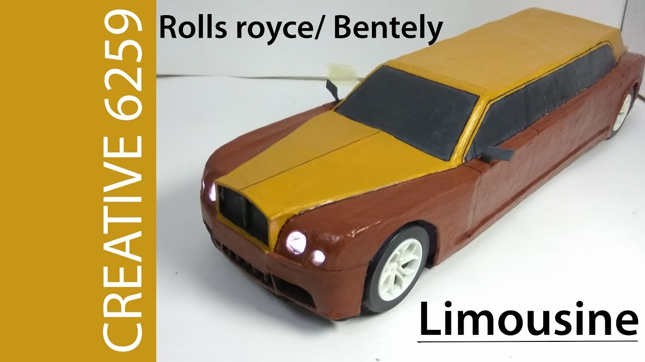 How To Make Electric Toy Car Rolls Royce Limousine Using