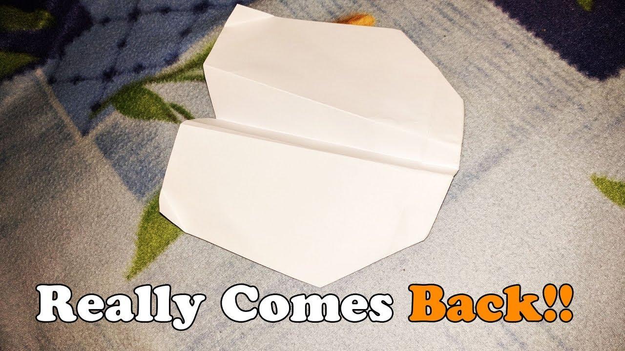 How To Make Paper Airplane Boomerang