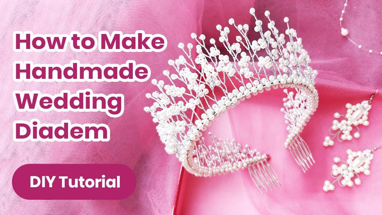 DIY Wedding Diadem 2020! Pearl Hair Accessory TUTORIAL. Handmade Headband Craft for Girls