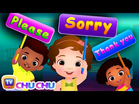 Say Please, Sorry and Thank You! - Good Habits For Children | ChuChu TV Nursery Rhymes & Kids Songs - วันที่ 02 Jan 2018