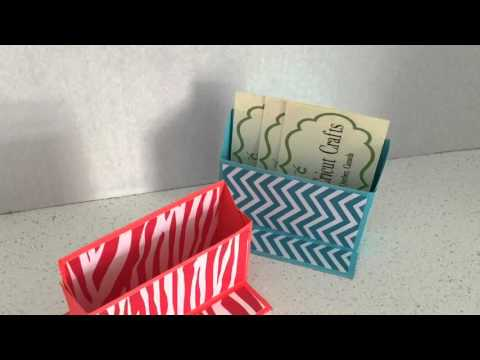 'HOW TO' Desk Top Business Card Holder