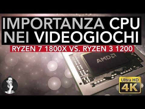 Quanto è IMPORTANTE la CPU NEI GIOCHI? | Ryzen 1800X vs Ryzen 1200