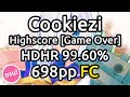 Cookiezi | Panda Eyes & Teminite - Highscore [Game Over] | HDHR 99.60% FC 698pp | Liveplay