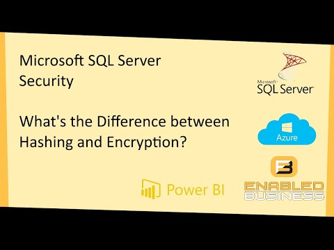 Comparison Of Hashing Vs Encryption In MS SQL Server