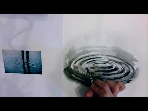 Ink Tutorial: Painting Water Ripples And Forest With Pen And Ink