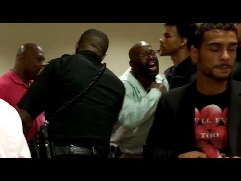 Teen's father erupts after cop is found not guilty: 'He beat my son'