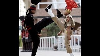 Parade at Wagah Border (The true feeling for the Nation comes from here )