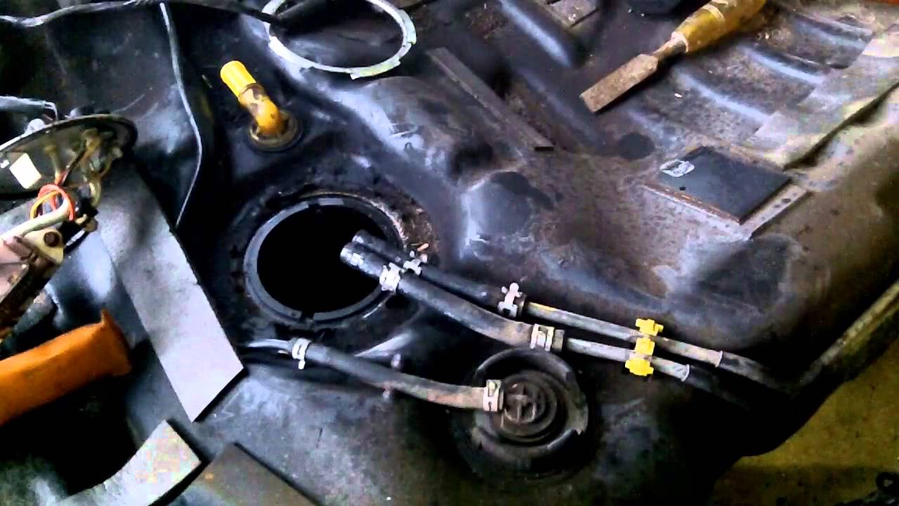 Mazda 626  Fuel Pump Removal & Fuel Tank Cleaning  YouTube