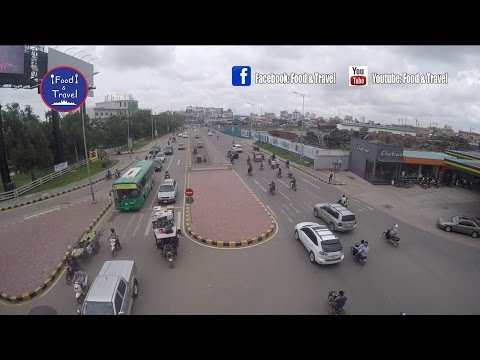 Techno Sky Bridge | Asian Travel in Phnom Penh, Cambodia | Asean Country Trip Video
