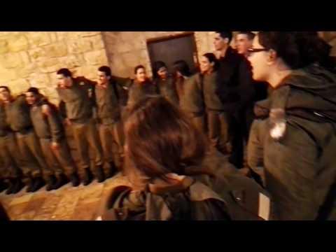 IDF soldiers (Israel) in an educational weekend. Mount Zion, Jerusalem, Israel