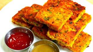 आलू बेसन का नाश्ता जिसे स्टोर करें और जब चाहे 2 मिनट में फ्राई करें/ aloo besan ka nashta/breakfast