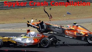 Spyker F1 Crash Compilation