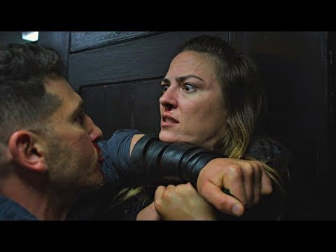 🔥Top 5 Satisfya Fight Scenes #5🔥 Punisher Bathroom Fight Season 2 Scene 2x01  IHiQ TopMovieClips