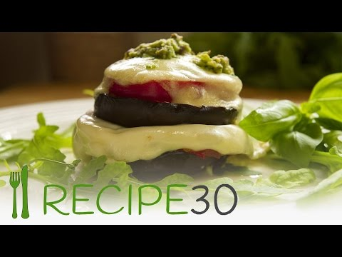 Melted cheese EGGPLANT STACK FLORENTINE