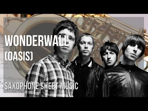 EASY Alto Sax Sheet Music: How to play Wonderwall by Oasis