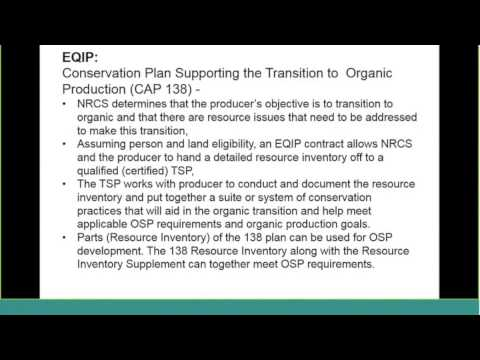 "Organic Dairy Initiative ""Tools For Transition"" - NRCS"