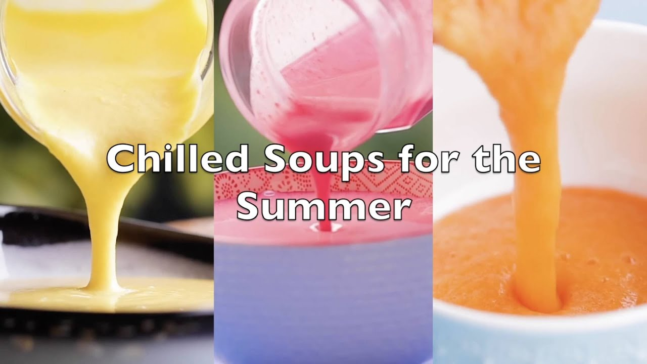 Compilation of Four Summer Soups: Make Healthy and Cold Soups with Mango, Corn, Coconut & Beetroot!