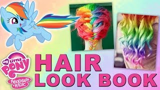My Little Pony Inspired Hair Lookbook | Rainbow Dash, Pinkie Pie, and More!