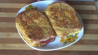 Горячие бутерброды за 5 минут. Быстро вкусно и просто.Hot sandwiches in 5 minutes.