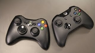 Xbox One vs. Xbox 360 Controller Comparison