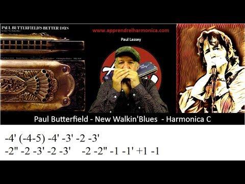 Paul Butterfield  - New Walkin' Blues - Harmonica C - The first lick