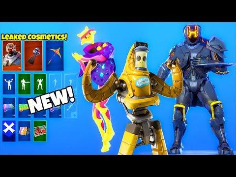 *NEW* Skins & Emotes..! (FREE Reward, MECHA Peely, Visitor V2 LEAKED) Fortnite Battle Royale