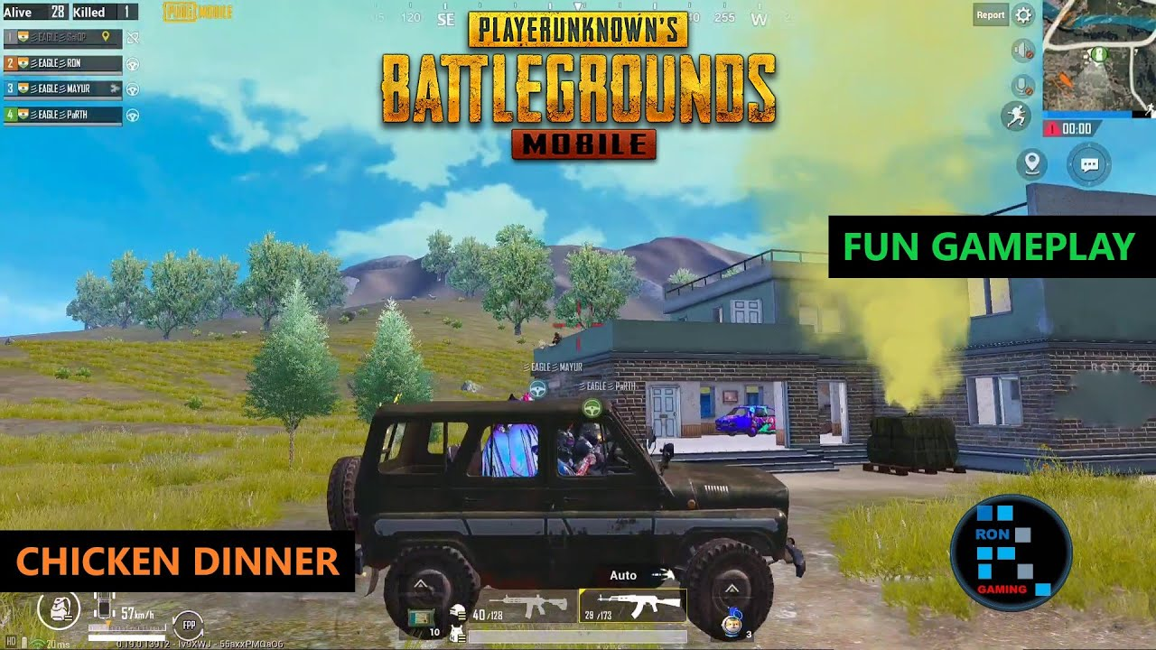 PUBG MOBILE   FUN GAMEPLAY WITH AMAZING CHICKN DINNER