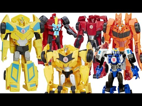 TRANSFORMERS TOYS ROBOTS IN DISGUISE, CLASH, CRASH COMBINER, BUMBLEBEE, BISK, STRONGARM, SIDESWIPE