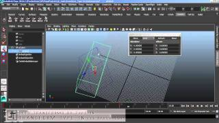 Transform Type-In Mel Script for Maya 2014