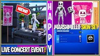 *NEW* Fortnite: Leaked MARSHMELLO Live Event! (Free Cosmetics, All Sound FX, Emotes, & More)