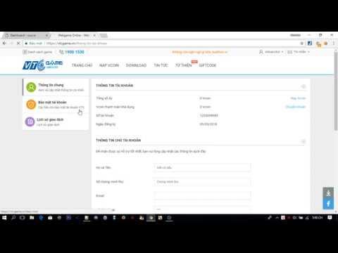 Đổi mật khẩu nick VTC / CF mà không cần mã OTP xác minh NEW – 2018