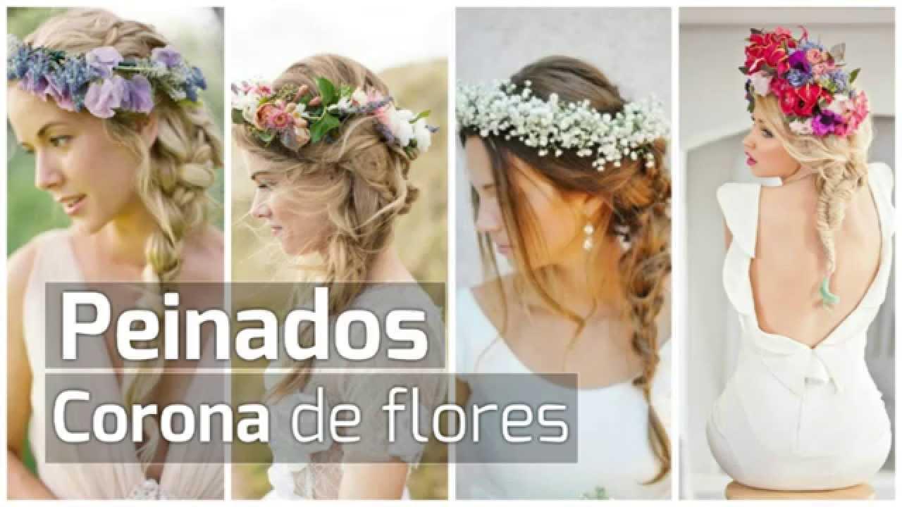 Peinados De Novias Corona De Flores 2017 Youtube