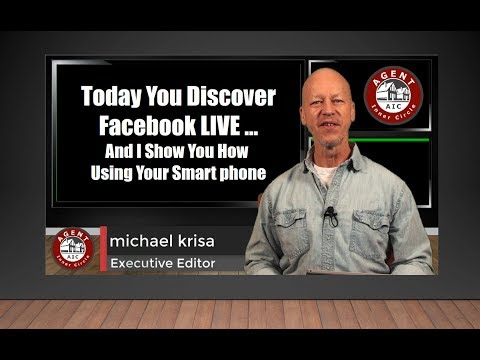 REALTORS- How to do Facebook LIVE Video with your Smartphone