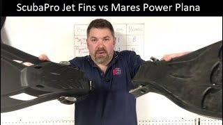 ScubaPro Jet Fin vs Mares Power Plana