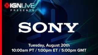 Sony Gamescom 2013 Press Conference - IGN Live Presents