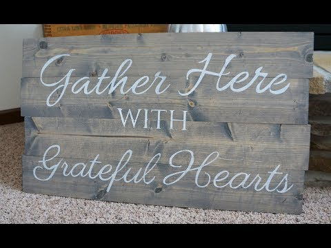 How to build stain and stencil a wood sign