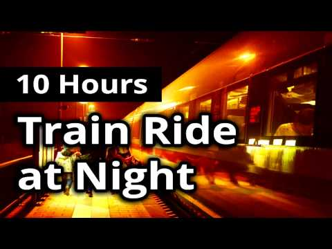 RIDING a TRAIN at NIGHT - Relaxing SLEEP Sounds Ambiance for 10 HOURS