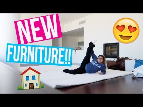 MY NEW FURNITURE!! Moving Vlog 1