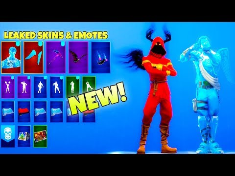 *NEW* Leaked Fortnite Emotes & Skins! (FROZEN Skins, Crackshot EMOTE) thumbnail