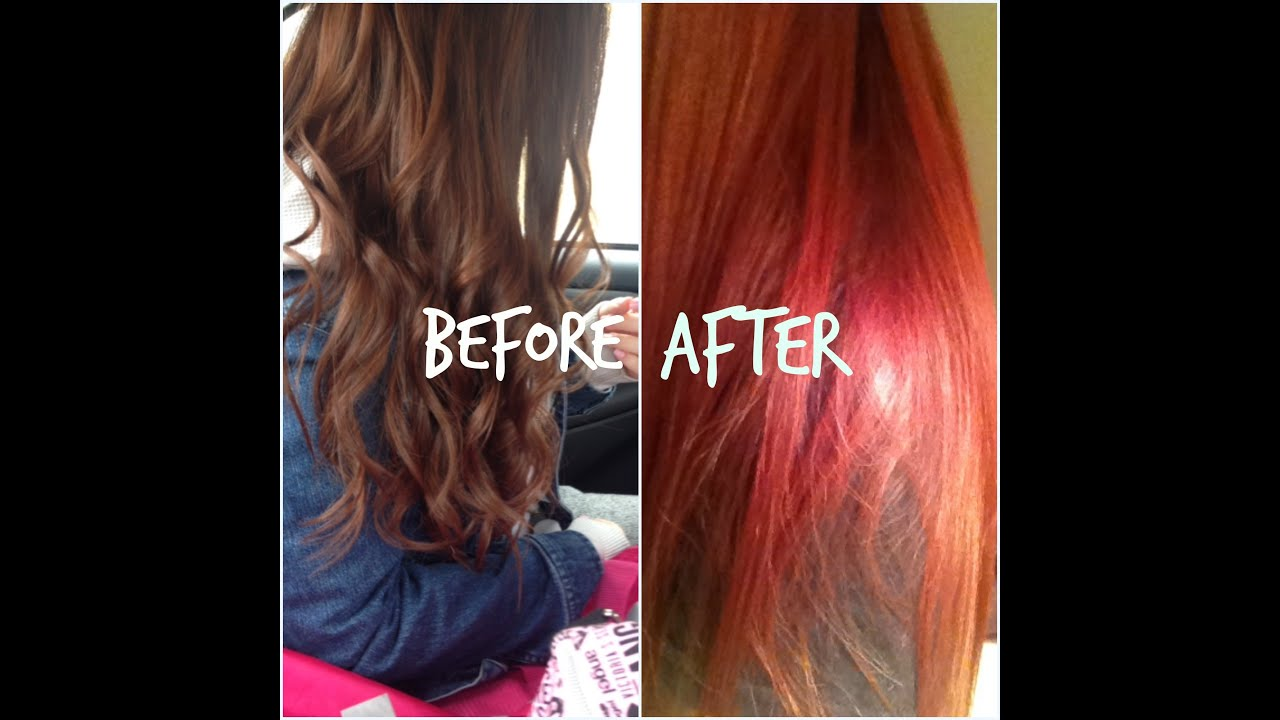 Red Hair Dying My No Bleach