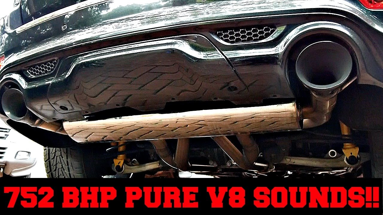 752 Bhp Jeep Grand Cherokee Srt8 Pure V8 Exhaust Sounds Youtube