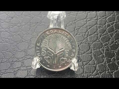 Coin République de Djibouti 5 francs - 1991 - جمهورية جيبوتي