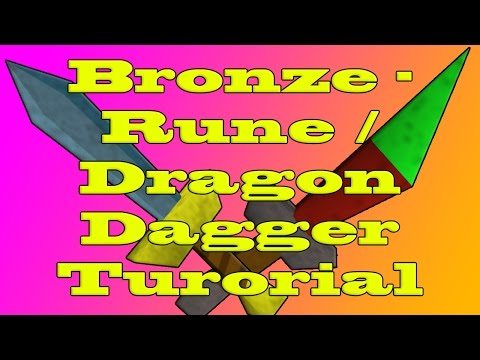 Runescape Dagger (Bronze - Dragon) prop tutorial