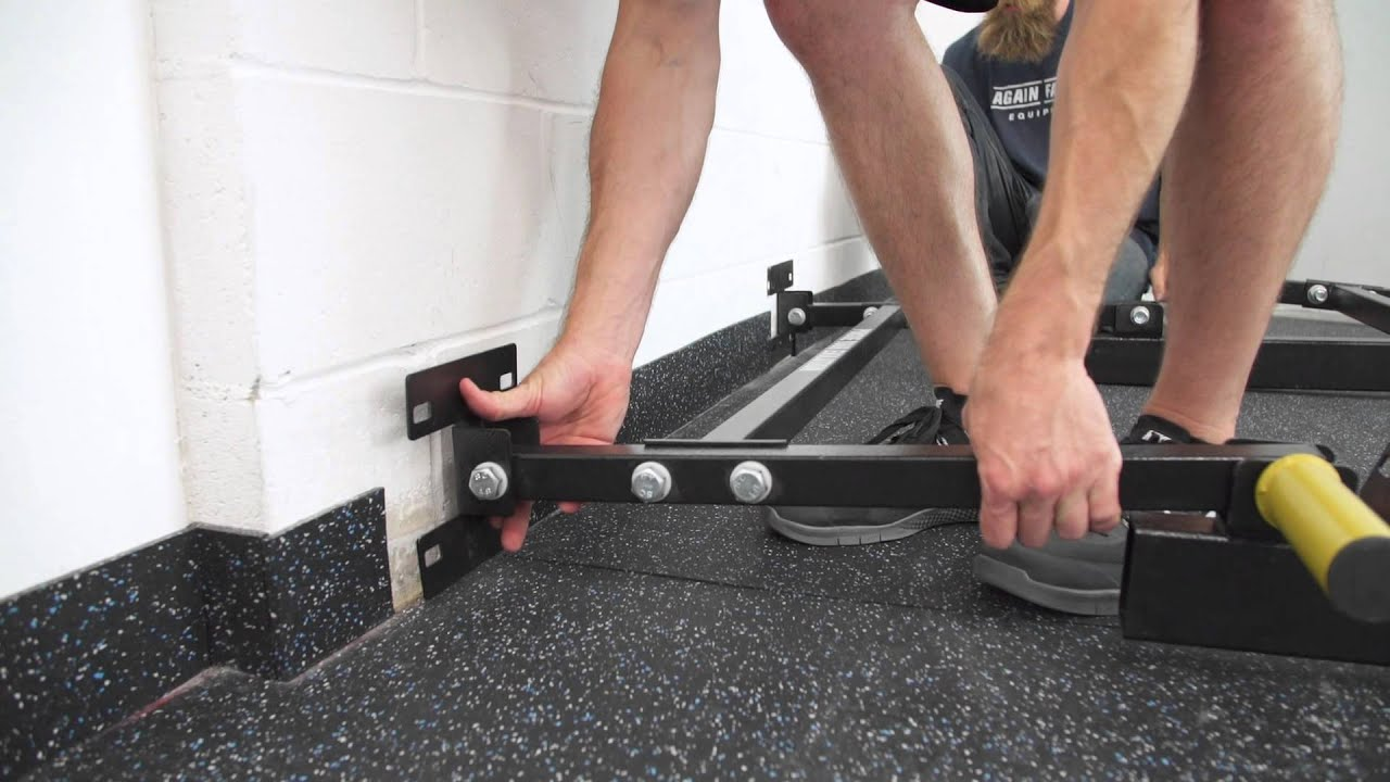 How to install your af wall mounted folding power rack youtube