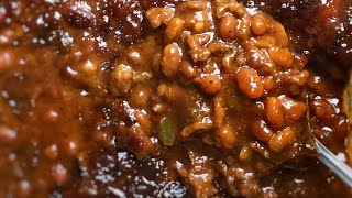 Southern style bbq baked beans!!!