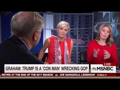 """We are already split."" Lindsey Graham on Cruz, Kasich and Trump 3/24/16"