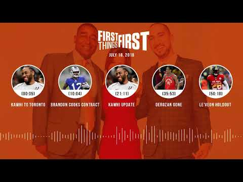 First Things First audio podcast(7.18.18) Cris Carter, Nick Wright, Jenna Wolfe | FIRST THINGS FIRST