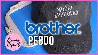 Embroider Hats on a 5x7 Hoop | Brother PE800 Embroidery Machine  | SEWING REPORT