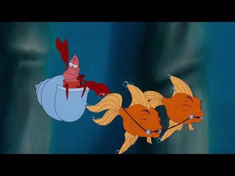 The Little Mermaid (1989) - King Triton And Sebastian Entrance
