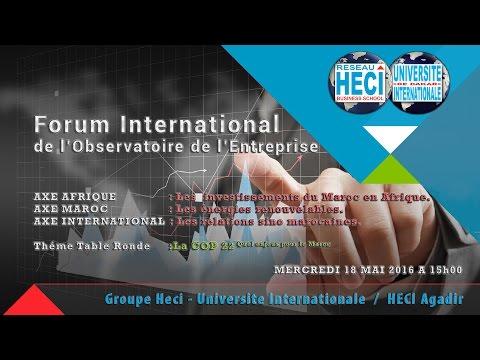 HECI Business School - Agadir / Forum de l'Observatoire de l'Entreprise - Mai 2016